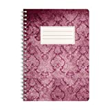 Bloc-notes | Cahier | Notebook | Journal | Carnet WIREBOOKS 5030 DIN A5 120 pages de papier 100g blanc vierge
