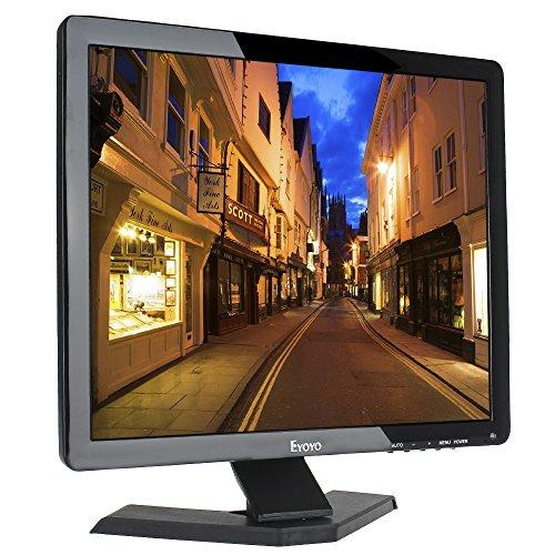 "Eyoyo 17"" Zoll Monitor 1280x1024 TFT LCD CCTV HDMI HD Monitor Farbdisplay Bildschirm mit BNC / VGA / AV / HDMI / USB Kopfhörerausgang, eingebauter Lautsprecher (17 zoll)"