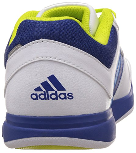 adidas LK Trainer 6, Chaussures Mixte Enfant Blanc (Ftwr White/Collegiate Royal/Semi Solar Yellow)