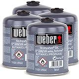 4x Weber Gas Kartusche für Q 100 Serie und Performer Touch-N-Go