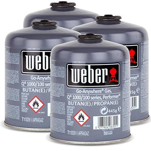 4x Weber Gas Kartusche Fr Q 100 Serie Und Performer Touch N Go