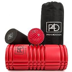 Faszienrolle und Massageball - 2 in 1 Massagerollenset inklusive Übungsanleitung mit Faszien Übungen zum gezielten Faszientraining. Ideal zur Selbstmassage.