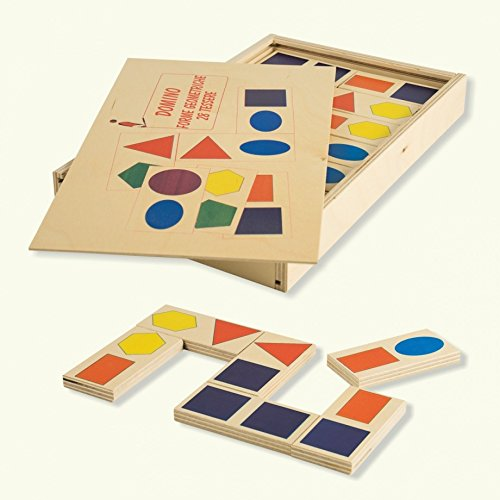 DIDA - Dominoes for Wooden Children - Geometric Shapes, (28 pzas)