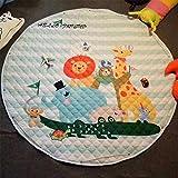 Gwell, sacco per giocattoli e tappeto gioco per bambini, borsa per giocattoli, stelle, contenitore per la cameretta dei bambini, 145cm