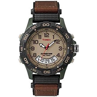 Timex T45181 – Reloj de pulsera para hombres, correa de nylon, color marrón
