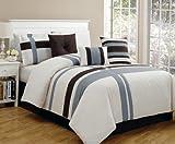 bella designer duvet cover(white,blue,brown,233.6cm*259cm)