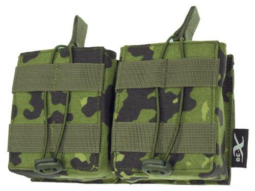 BE-X Open Mag Pouch / Magazintasche -Double- für HK 417, MOLLE - dänisch tarn