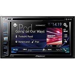 """Pioneer AVH-X390BT Lecteur multimédia à écran Tactile de 6,2"""" (15,8cm) avec Bluetooth Peut Lire Les CD et DVD Prise USB, entrée Aux et Sortie vidéo Noir"""
