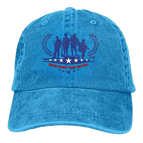 Preisvergleich Produktbild Men&Women Love Wins Vintage Washed Dyed Cotton Denim Solid Color Baseball Kappe One Size Sports