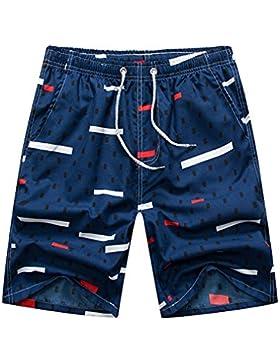 Pantalones Cortos Unisex Última Moda Bañador Hombres Mujeres Secado Rápido Playa Vacaciones Natación Carrera