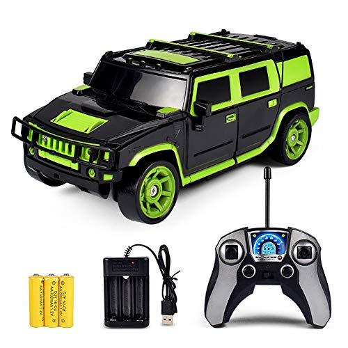 TTGE 1:18 EIN-klick-Verformung Ferngesteuertes Auto Wiederaufladbarer Fernbedienungs-Buggy Kinderspielzeug,Green