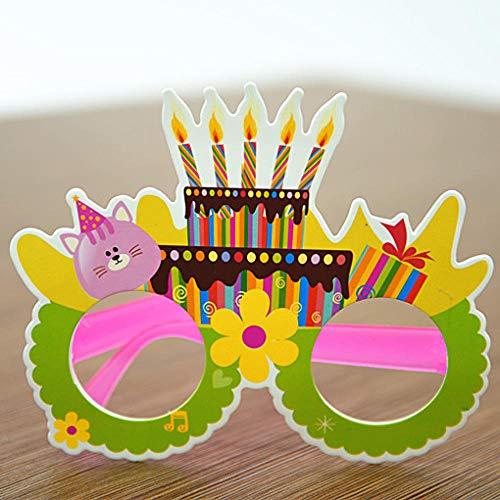 Potlystein Fotozubehör Kreative Comic-Brille ohne Objektiv Rahmen Geburtstagsfeier Requisiten Erwachsene Brille Fotografieren Requisiten@Kätzchen