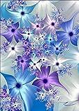 DIY 5D Diamant Gemälde Kit Rund Diamant Blau Dream Blume,5d diamant painting full groß Stickerei Strass Kreuzstich Kunst Handwerksbedarf für Home Wand Decor 30x40cm