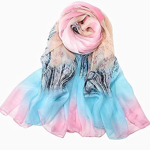 Nouveau foulards en soie châles écharpes en soie de mûrier à double usage d'hiver Arbre à soie