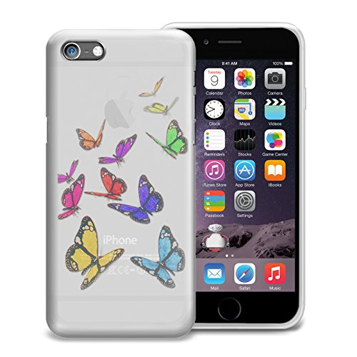 Price comparison product image FoneM8® - Butterfly Designer Case For iPhone 6 Plus 6S Plus Gel Skin Cover