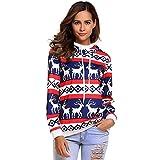 Die besten Weihnachten Jumpers - Damen Hoodie Sweatshirt Weihnachten Elch Bekleidung Loveso Frauen Bewertungen