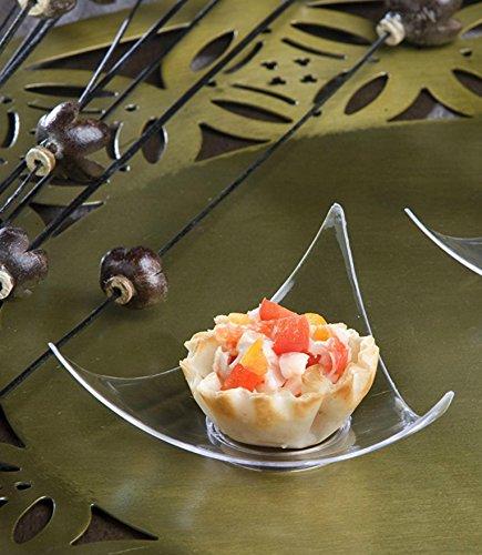 100CLEAR Kunststoff Mini Dreieck Dessert Teller 100SHOOTING STAR MINI Vorspeise Teller klein Cocktail Party Teller Sushi Pie Tasting Teller Probe Teller - Kleine Pan Cupcake
