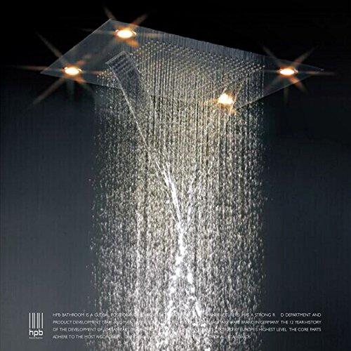 WEITING Voll-Messing Baldachin-Regen fällt verdeckte Bad Dusche Luxus genossen in der Wand Dusche