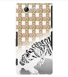 ColourCraft White Tiger Back Case Cover for SONY XPERIA Z4 MINI