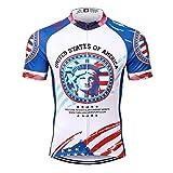 Thriller Rider Sports® Uomo USA Flag Sport e Tempo Libero Abbigliamento Ciclismo Magliette Manica Corta