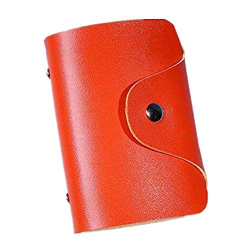 Männliches und Weibliches 24-Karten-Paket der Modelle Männer Frauen Leder Kreditkarteninhaber Fall Kartenhalter Brieftasche Visitenkarte (Orange) (Orange Jumpsuit Kostüm Weiblich)
