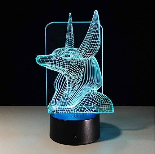 Neuheit Pharao Modus Usb Led 3D Nachtlicht 7 Farben Schreibtisch Tischlampe Baby Zimmer Stimmung Lichter Für Kinder Spielzeug Geschenk (Star Lichtschwert-zimmer Wars Licht)