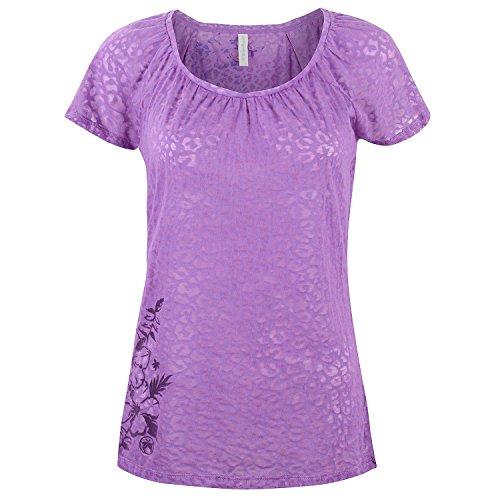 Urban Beach da donna Rockstar profondo scollo a V t-shirt Purple