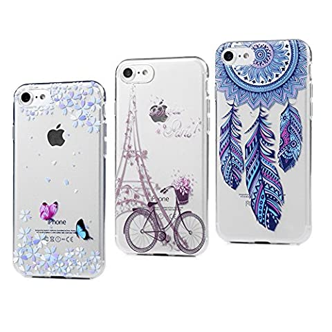 3 x Coque iPhone 7, Badalink Case Housse Bumper de