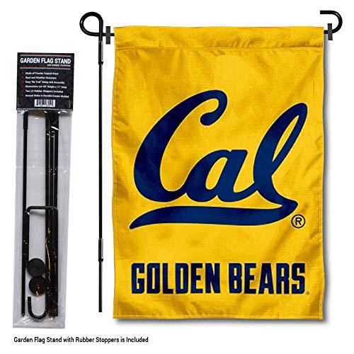 College Flags and Banners Co. Cal Berkeley Goldene Bears Gartenflagge mit Ständerhalter Cal Berkeley Bears
