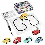 Formulaone Enlighten Magic Pen Inductive Car Carro Armato del Treno dei Bambini Carrozzina per Bambini Disegnare Linee Induzione Rail Car Kids