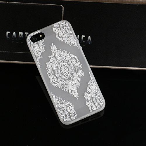 Cozy Hut ® für iPhone SE / 5 / 5S, Schutzhülle / Case / Cover / Hülle / TPU Gel Skin Colorful Pattern Bunte Muster Kunststoff Serie für iPhone SE / 5 / 5S Hülle Beutel Pattern Print Printing Drawing M Datura Blumen