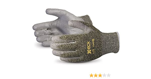1-Pair Abrasion 4 18 Gauge Nylon//Spandex with 3//4 Over Knuckle Nitrile Dip and Black BNF Palm /& Finger X-Small MCR Safety N96783XS Ninja BNF Nitrile Gloves ANSI Puncture 2