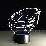 Luce notturna a colori auto sportiva ologramma illuminazione domestica decorazione camera da letto scrivania lampada da tavolo auto regalo macchina ventilatore migliore regalo