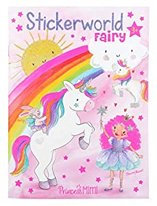 Depesche 10931 - Libro para Colorear con Pegatinas, Princess Mimi Fairy, Aprox. 18 x 24,5 x 0,5 cm, Multicolor