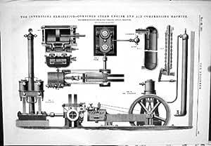 Construction de la machine vapeur combin e par 1885 air for Machine vapeur cuisine