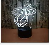 Handel Sport 3D Lampe Basketballkorb 3D Kleine Nachtlicht Weihnachtsschmuck Kinderzimmer Licht Neuheit Usb