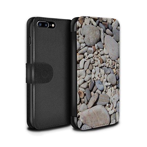 Stuff4 Coque/Etui/Housse Cuir PU Case/Cover pour Apple iPhone 7 Plus / Cailloux des Plages Design / Pierre/Rock Collection Cailloux des Plages