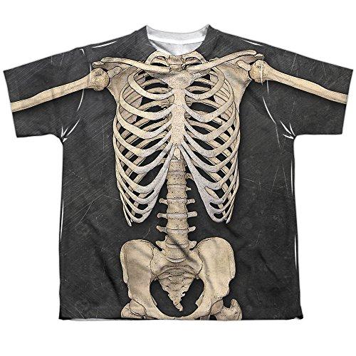 ngen T-Shirt Gr. Large, weiß (Weiß Skeleton Girl Kostüm)