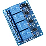 ELEGOO Relay Module 4 Channel DC 5V with Optocoupler for Arduino UNO R3 MEGA 2560 Project 1280 DSP ARM PIC AVR STM32 Raspberry Pi