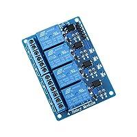 Elegoo 5V 4 Canaux Module Relais avec Optocoupleur Continu Relay pour Arduino UNO R3 MEGA 2560 1280 DSP ARM PIC AVR STM32 Raspberry Pi