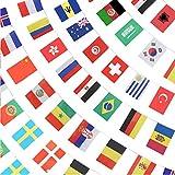 YuChiSX Juego de 100 Banderas de países Diferentes, Banderas internacionales del Mundo, decoración de Fiesta, para decoración de Fiesta de Bar, 25 Metros, Decoración para Gran Apertura,Varios Nación