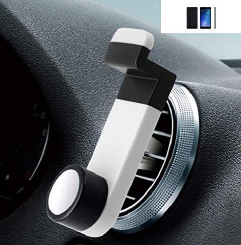 Smartphone universal Holder Holder / Car montaje / parabrisas para el Xiaomi Mi Max 2. blanco. Titular de teléfono de la rejilla de ventilación se puede utilizar con los teléfonos inteligentes y