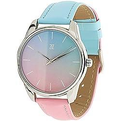 Damen Originelle Armbanduhr Ziz Accessories-Braclet Rosa Blau