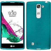 Funda de silicona para LG G4c - brushed azul - Cover PhoneNatic Cubierta + protector de pantalla