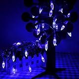 Lychee 4m 13ft 40LED Wasserdicht Batterie Lichterkette mit Erdbeere für Hochzeit Partys Weihnachtsfest Garten (Blau)