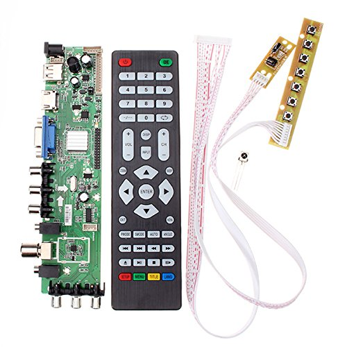 ILS - Z.VST.3463.A1 Support Digital Signal DVB-C DVB-T/T2 With 7 Key Button Switch Universal LCD TV Controller Driver Better Than V56 (Switch-controller 7-rocker)