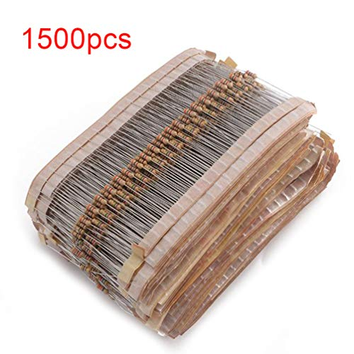Lin-Tong 75 Werte 1500Pcs Resistor Kit 1 Ohm - 10Mohm Kohleschicht 1 / 4W 5% Resistor Assortment Kit Elektronische Bauelemente für DIY-Projekte (Kits Elektronische Projekte)