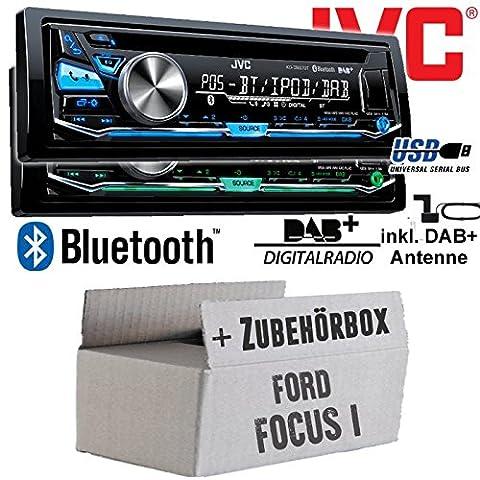 Ford Focus 1 - JVC KD-DB97BT - DAB+ Digitalradio | Bluetooth | USB | Autoradio inkl. DAB+ Antenne -