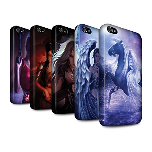 Officiel Elena Dudina Coque / Clipser Matte Etui pour Apple iPhone 4/4S / Pack 9pcs Design / Super Héroïne Collection Pack 9pcs