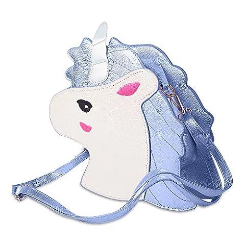 Katara 1790 Süße Einhorn Handtasche, blau